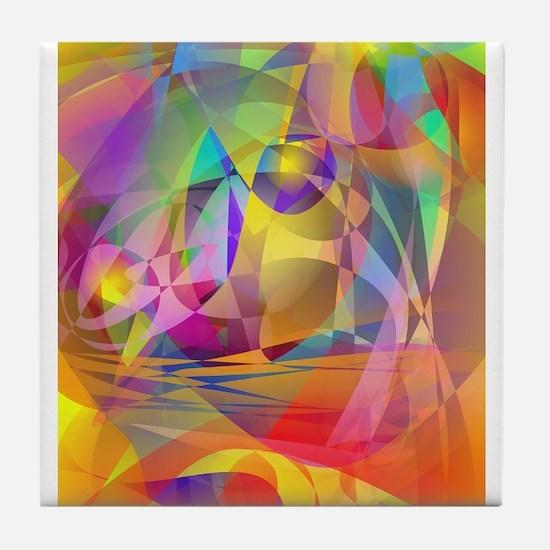 Abstract Banana Tile Coaster