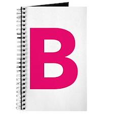 Letter B Pink Journal