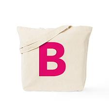 Letter B Pink Tote Bag