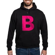 Letter B Pink Hoodie