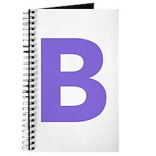 Letter B Purple Journal