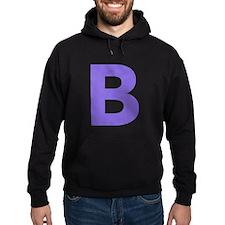 Letter B Purple Hoodie