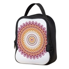Orange Elegance Mandala Neoprene Lunch Bag