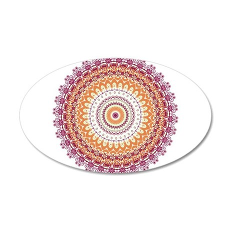 Orange Elegance Mandala Wall Sticker