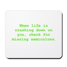 Check for missing semicolons Mousepad