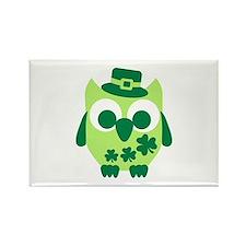 Irish shamrock owl Rectangle Magnet