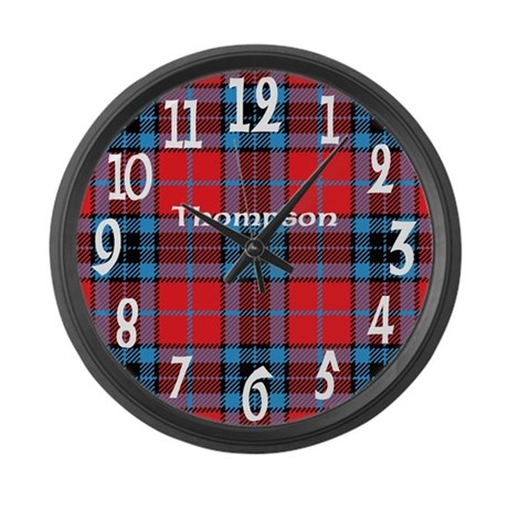 Thompson Clan Large Wall Clock