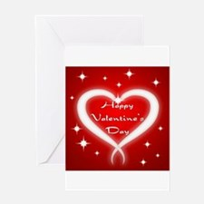 Red Happy Valentines Day Greeting Card