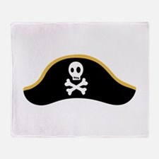 Pirate Hat Throw Blanket