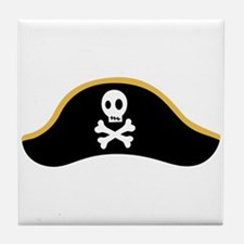 Pirate Hat Tile Coaster