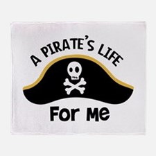 A Pirates Life For Me Throw Blanket