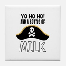 O! And A Bottle Of Milk Tile Coaster