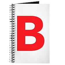 Letter B Red Journal