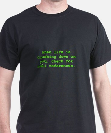 Check for null references T-Shirt