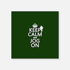 Keep Calm and Jog On Sticker