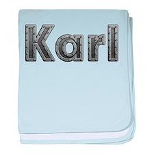 Karl Metal baby blanket