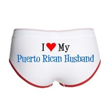 Love My Puerto Rican Husband Women's Boy Brief Wom