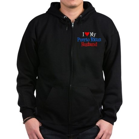 Love My Puerto Rican Husband Zip Hoodie