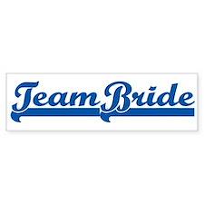 Blue Team Bride Bumper Bumper Sticker