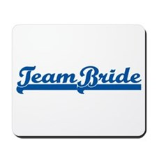 Blue Team Bride Mousepad