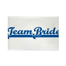 Blue Team Bride Rectangle Magnet