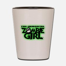 Immortal Zombie Girl Logo Shot Glass