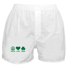 Peace love irish shamrock Boxer Shorts