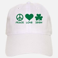 Peace love irish shamrock Baseball Baseball Cap