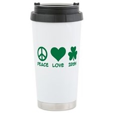 Peace love irish shamro Travel Mug