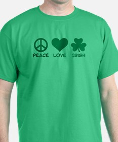 Peace love irish shamrock T-Shirt