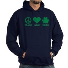 Peace love irish shamrock Hoodie
