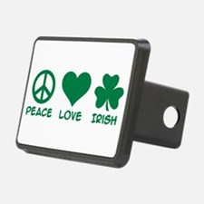 Peace love irish shamrock Hitch Cover
