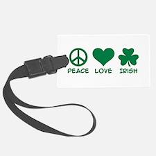 Peace love irish shamrock Luggage Tag