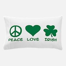 Peace love irish shamrock Pillow Case