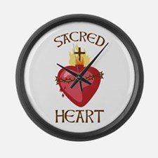 Sacred Heart Large Wall Clock
