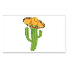 Sombrero Cactus Decal