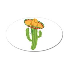 Sombrero Cactus Wall Decal
