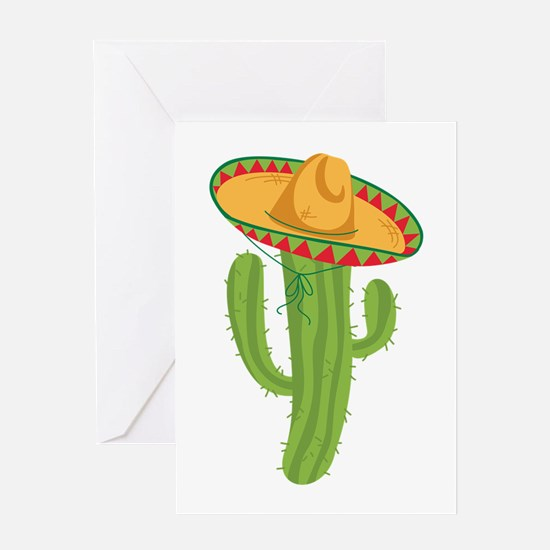 Sombrero Cactus Greeting Cards