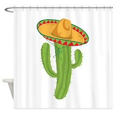 Sombrero Cactus Shower Curtain