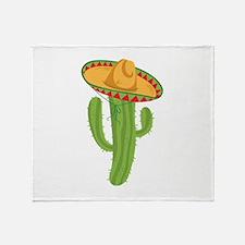 Sombrero Cactus Throw Blanket