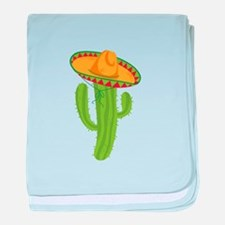 Sombrero Cactus baby blanket