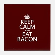 Keep Calm and Eat Bacon Tile Coaster