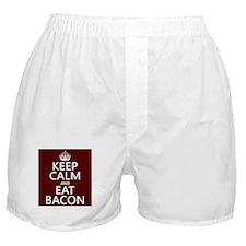 Keep Calm and Eat Bacon Boxer Shorts