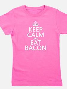 Keep Calm and Eat Bacon Girl's Tee