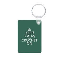 Keep Calm and Crochet On Keychains