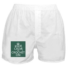 Keep Calm and Crochet On Boxer Shorts