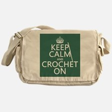 Keep Calm and Crochet On Messenger Bag