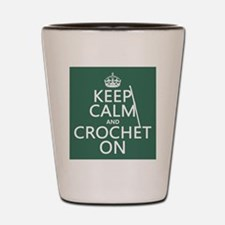 Keep Calm and Crochet On Shot Glass