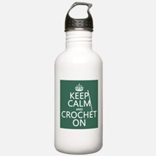 Keep Calm and Crochet On Sports Water Bottle
