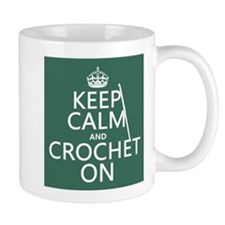Keep Calm and Crochet On Mugs